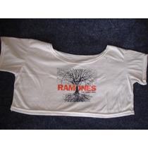Remera Hombro Caído De The Ramones Talle S