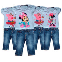 Remeras De Peppa Pig Y Minnie Con Brillos T1 Al T5