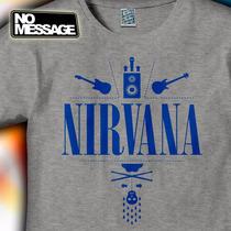 Remera Unisex Estampada Nirvana Rock Musica No Message