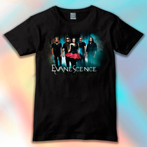 Remera Unisex Estampada Evanescence Música Rock No Message