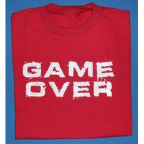Remeras Logo Game Over - Talles Grandes.