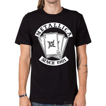 Remeras Estampadas Metallica, Rock Metal, 16 Diseños