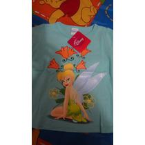 Remeras Linea Disney Sesamo Tinkerbell Princesas Importadas