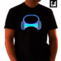Remera Con Luces Audiorítmica Dj Ecualizador Electro Fashion