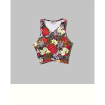 Abercrombie & Fitch Remera De Mujer Neopren Cropped Top