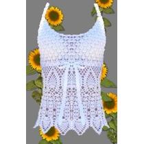 Musculosa Tejida A Crochet Sin Forro Varios Colores