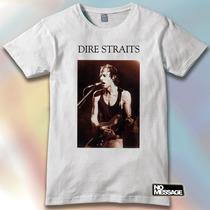 Remera Unisex Estampada Dire Straits Música Rock No Message