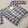 Camisa Escocesa Importada De Verano Con Puntillas M