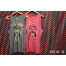 Musculosa Aerosmith Let The Music Do The Talking Verde Coral
