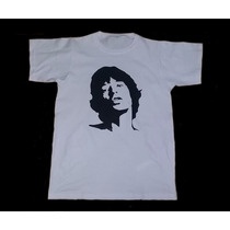 Remera Combinada Mick Jagger - The Rolling Stones -