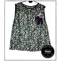 Camisa Mujer Sin Mangas En Gasa - Diseño Independiente