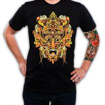 Remera Estampada Gold Mask (negra)