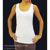 Musculosa Basicas Sublimables!!!
