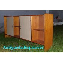 Gran Repisa Alacena Biblioteca Impec Diseño Retro Vintage 60