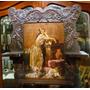 Antigua Repisa Art. Nouveau Con Pintura
