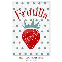Lámina Frutilla - Papel Fold (9 X 13 Cm.)