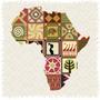 Cuadro Mapa De Africa Tribal Impreso En Tela Canvas 85x71