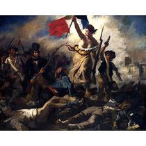 Lamina- La Libertad Guiando Al Pueblo- Delacroix-50 X 60 Cm.