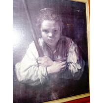 Cuadro Lámina Reproducción Rembrandt Muchacha Con Escoba