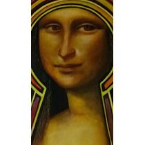Mona Lisa 2 - Retrato Con Estilo Propio - Óleo Sobre Madera