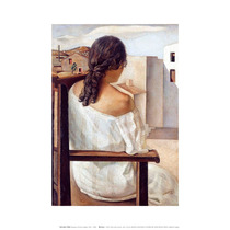 Lamina - Retrato (muchacha De Espaldas) - Dali - 50 X 70 Cm.