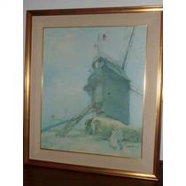 658- Cuadro Vincent Van Gogh Oleo Le Moulin De La Galette
