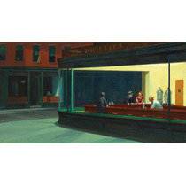 Lamina - Nighthawks - Edward Hopper - 70 X 43 Cm.