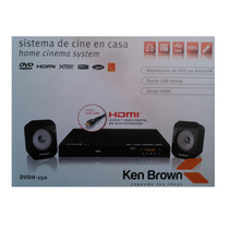 Reprodoductor Dvd+2 Parlantes Ken Brown Hdmi/fm/ Usb/ Sd