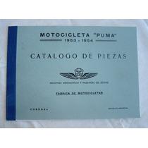 Moto Puma 98 1ra O 2da Serie, Catálogo Piezas De Repuestos