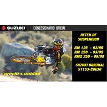Reten De Suspension Rm 125 250 Suzuki Original Contacto Moto