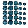 Kit De 30 Tapa Tuercas Tunning Cromado Cubre Tornillo Azul