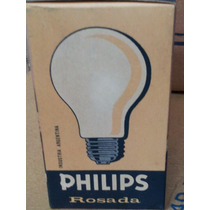 Lámparas Incandescentes Muy Antiguas Philips Sílica Rosada