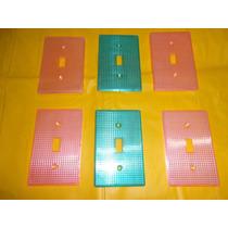 Lote X6 Antiguas Tapas De Toma De Luz Transparentes