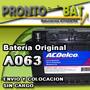 Bateria Acdelco 12x75 Original Chevrolet Colocacion S/ Cargo