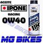 Aceite Lubricante Ipone 0w40 Racing Sintetico Solo Mg Bikes