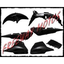 Kit Plasticos Honda Cg Titan 150 Negro En Freeway Motos !