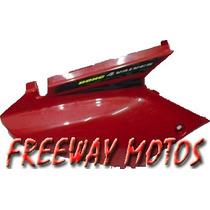 Cacha Lateral Bajo Asiento Honda Tornado Der Rojo Original !