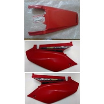 Cachas Laterales + Colin Rojo Xr 250 Tornado Honda Original