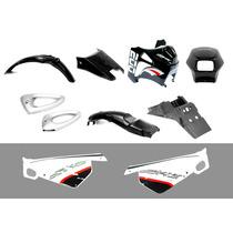 Kit De Plasticos 10 Piezas (negro) Dakar 200 Motomel