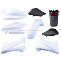 Xr 250 Tornado Kit De Plasticos 8 Piezas Solo Blanco /negro