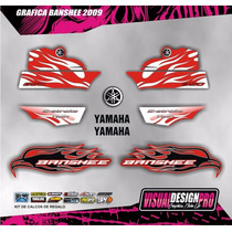 Calcos - Grafica Kit Yamaha Banshee Simil Original - Lamin.