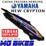 Cacha Trasera Derecha Yamaha New Crypton P/blanco Mg Bikes