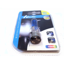 Lampara H6m Para Moto Efecto Xenon 5500 K 12v 35/35 W Blue