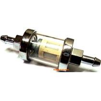 Filtros Nafta Motos Metalico Vidrio Lavables Custom Tunnig