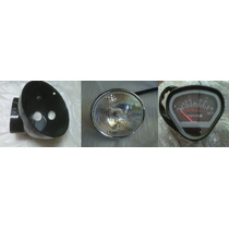 Tablero, Optica Y Cubre Opticas Mondial Dax 110cc Negra - 2r