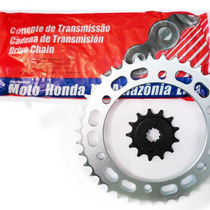 Kit Transmision Honda Falcon Nx 400 Hamp Original Fas Motos!