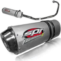 Escape Deportivo Spr Aluminium 4 Yamaha Ybr 125 / Cg 150 Fas