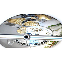 Espejo Moto Custom Aguila Live To Ride Choper Harley Bobber