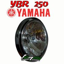 Optica + Aro Farol + Lampara Yamaha Ybr 250 Orig Fas Motos