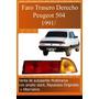 Faro Trasero Derecho Peugeot 504 91/ Alternativo